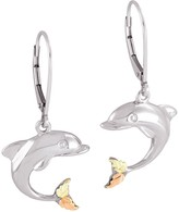 Black Hills Dolphin Earrings Sterling/12K Gold