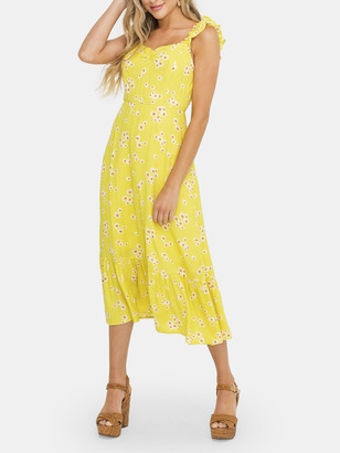 Lush Printed Ruffle Tiered Dress