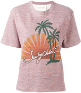 See by Chloe graphic print knitted top