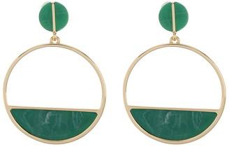 DKNY Resin Circle Post Drop Earrings