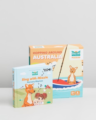 Mizzie The Kangaroo Toddler Birthday Gift Set Mizzie Puzzle & Sound Book
