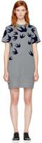 McQ Grey Swallows T-Shirt Dress