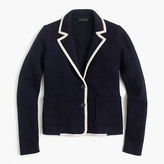 J.Crew Tipped sweater blazer in merino wool