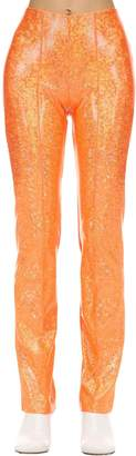Saks Potts Glittered Stretch Jersey Pants