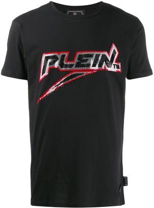 Philipp Plein sequin logo T-shirt