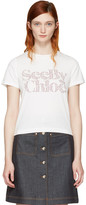 See by Chloe White Logo T-shirt
