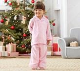 Pottery Barn Kids Pink Flannel Pajamas, Size 4