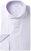 Isaac Mizrahi Mini Check Slim Fit Dress Shirt