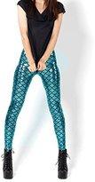 HuntGold Women' Mermaid Printing Fihcale Thin Tight Pant Elaticity Legging Pantyhoe Pantocking(ize:)