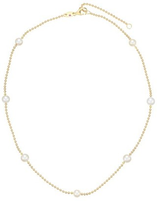 Roberto Coin 18K Yellow Gold & 4MM Pearl Station Beaded Chain Necklace