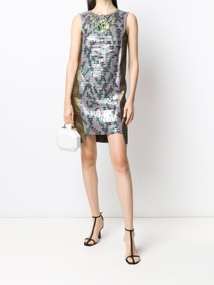 Panelled Sequin Cocktail Dress