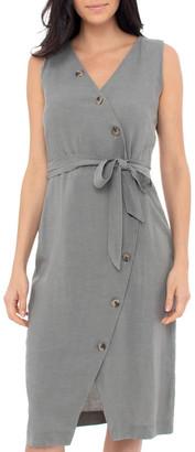 Jump Sleeve Less Button Detail Dress