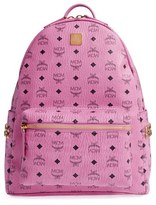 MCM 'Medium Stark' Side Stud Backpack - Pink