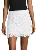 Saks Fifth Avenue Scalloped Lace Skirt