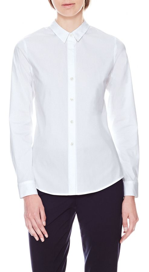 Theory Larissa Shirt in Luxe Stretch Cotton