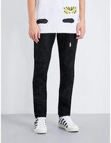 Off-white C/o Virgil Abloh Spray-effect Slim-fit Skinny Jeans