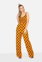 Girls On Film Domino Polka Dot Jumpsuit
