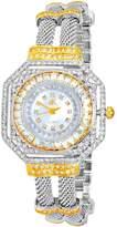 Adee Kaye Women's 34.05mm Two Tone Brass Bracelet & Case Quartz Watch Ak9705-L