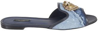 Dolce & Gabbana Patched Denim Sandals