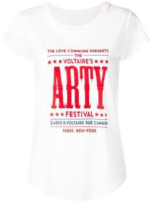 Zadig & Voltaire Zadig&Voltaire skinny Festival T-shirt