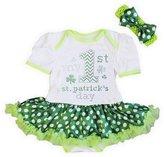 Kirei Sui Baby 1st St Patrick's Day Pollka Dots Bodysuit