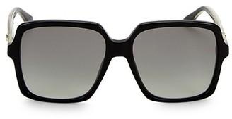 Gucci 56MM Square Acetate Sunglasses