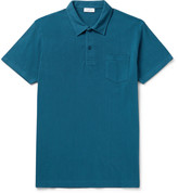 Sunspel - Riviera Slim-fit Cotton-mesh Polo Shirt