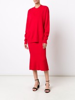 Jason Wu L/S V Neck Pullover With Emb Face