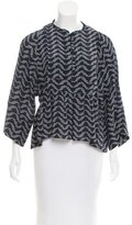 Apiece Apart Printed Silk Top