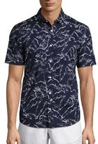 Michael Kors Palm Slim Button-Down Shirt