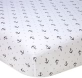 Nautica Mix & Match Anchor Print Fitted Crib Sheet in Grey