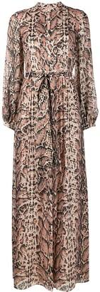 Temperley London Ocelot-print long dress