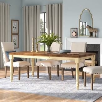 Three Posts Courtdale Dining Table Finish: Almond / Wheat