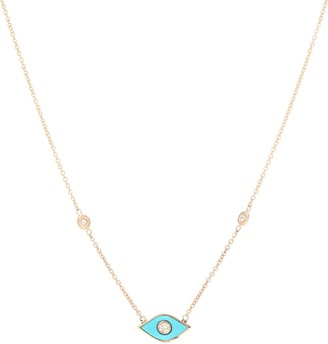 Jacquie Aiche Marquise 14kt rose-gold and diamond necklace