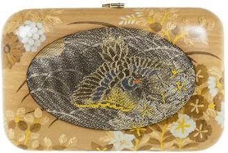 Silvia Furmanovich Vintage Japanese Fabric Wood Clutch