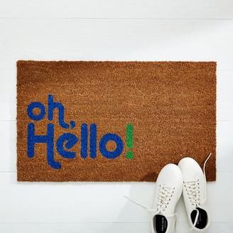 west elm Nickel Designs Hand-Painted Doormat - Oh, Hello
