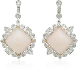 Ilana Ariel Stepping Stone 14K Gold, Opal and Diamond Earrings