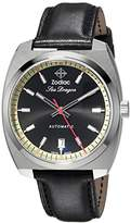 Zodiac Men's 'Seadragon' Swiss Automatic Stainless Steel and Leather Casual Watch