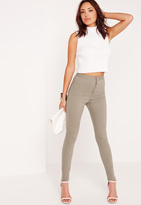 Missguided High Waisted Skinny Jeans Sage