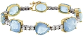 Irene Neuwirth One-Of-A-Kind Aquamarine And Diamond Tennis Bracelet