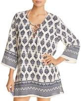 J Valdi Venetian Lace-Up Tunic Swim Cover-Up