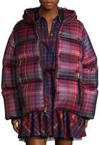 Tommy Hilfiger Collection Short Tartan Down Jacket