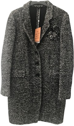 Ermanno Scervino Grey Wool Coat for Women