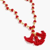 J.Crew Beaded tassel pendant necklace