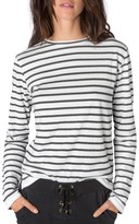 Rag Doll Women's Ragdoll Stripe Long Sleeve Tee