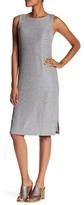 Bobeau Shiny Ribbed Knit Dress