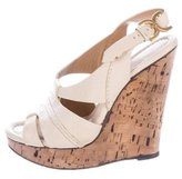 Chloé Leather Wedge Platform Sandals