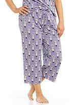 Sleep Sense Plus Zebra-Print Cropped Sleep Pants