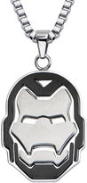Iron Man FINE JEWELRY Marvel Mens Stainless Steel Cutout Pendant Necklace