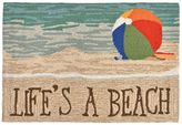 Liora Manné Trans Ocean Imports Frontporch Life's a Beach Indoor Outdoor Rug